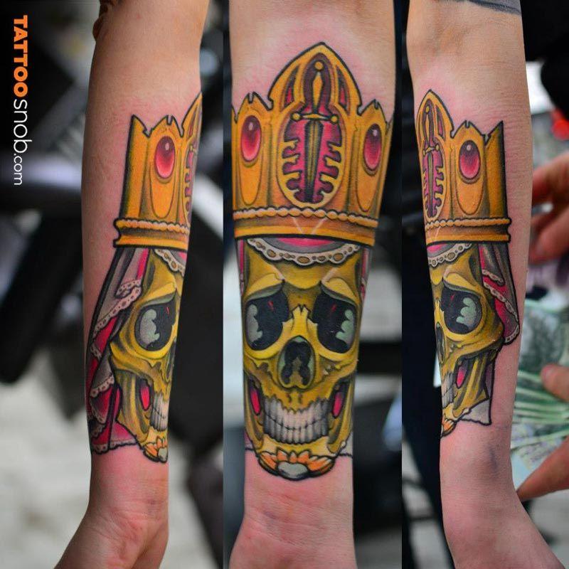 Tattoo Snob Delicate dead king King tattoos, Tattoos