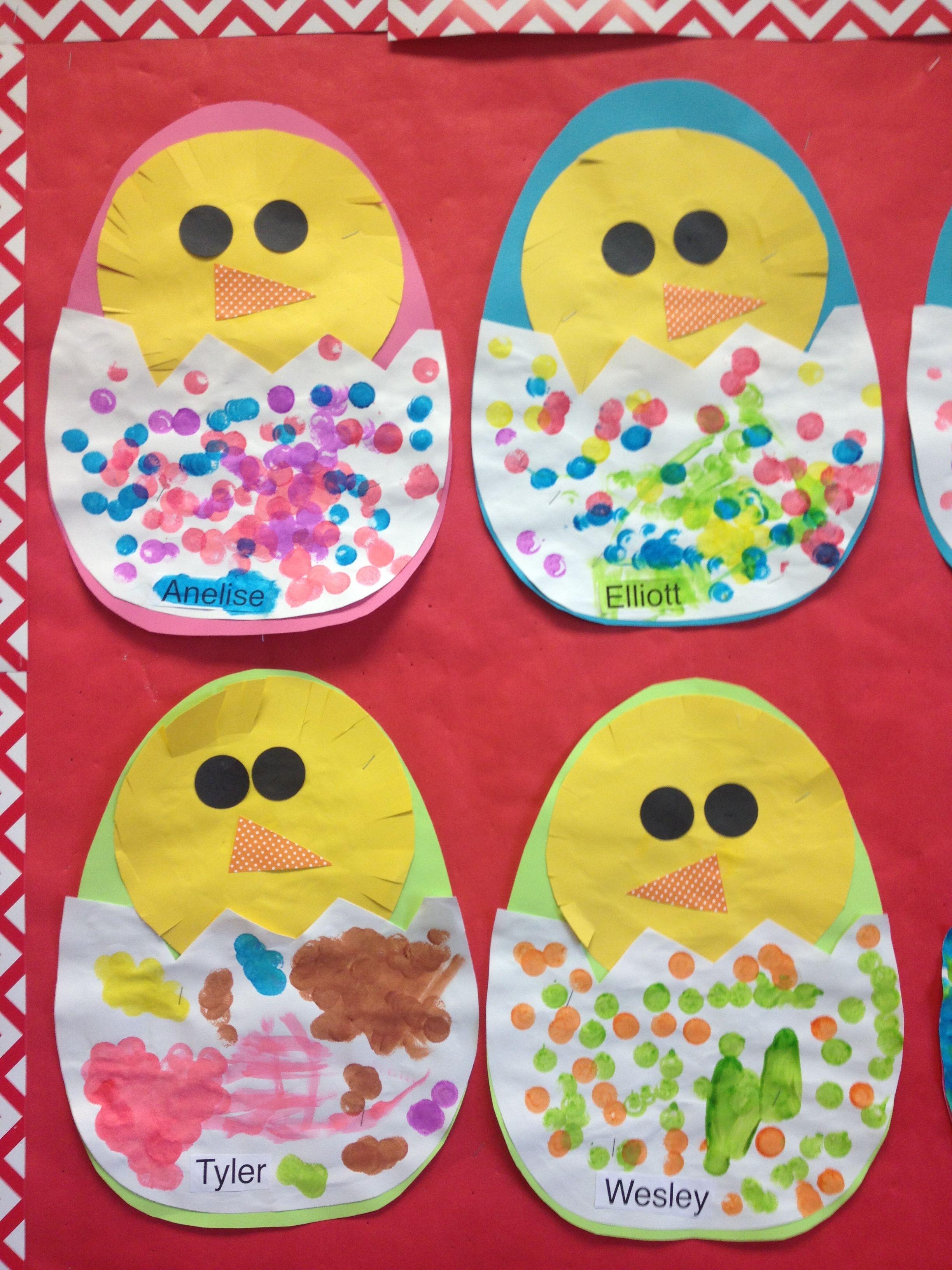 Chicks in eggs preschool pinterest ostern diy - Bastelideen ostern kindergarten ...
