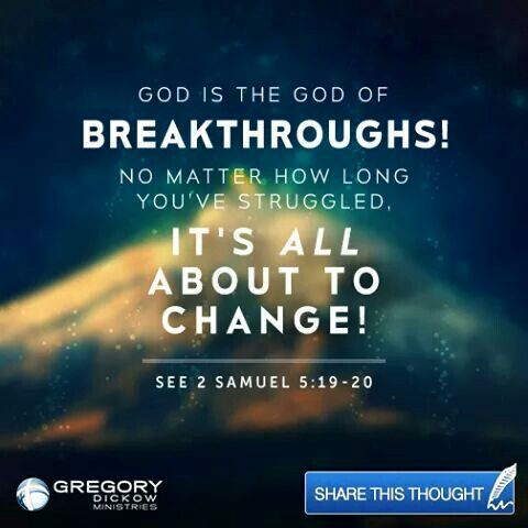 God is the God of breakthrough | The Bible | 2 samuel
