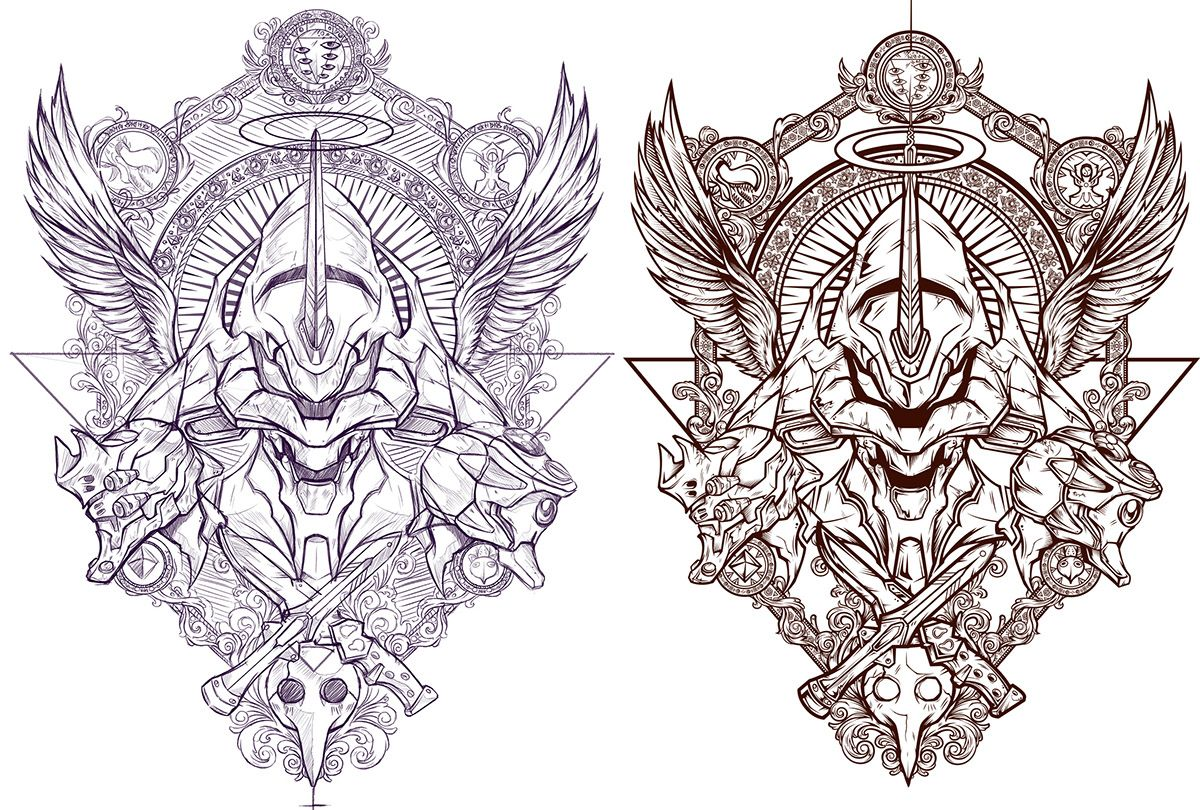 Evas against angels project on Behance