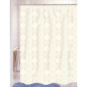 Carnation Home Fashions Jacquard Polyester Fabric Shower Curtain