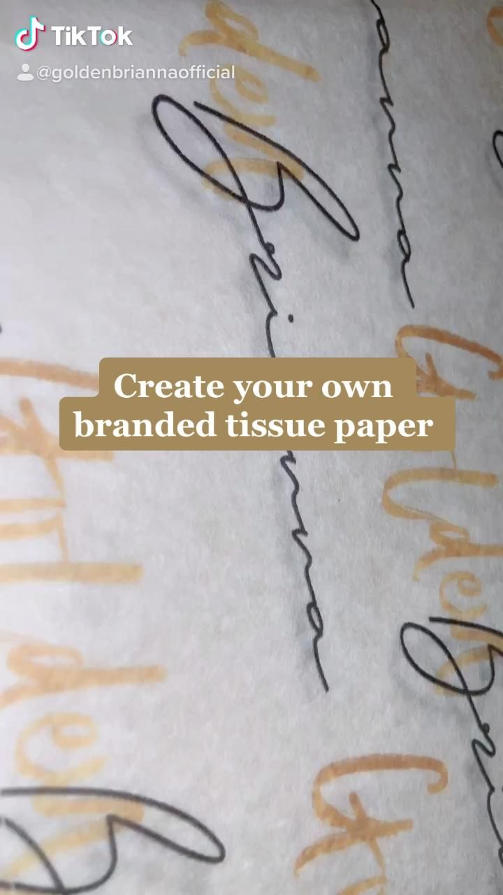 DIY branded tissue paper