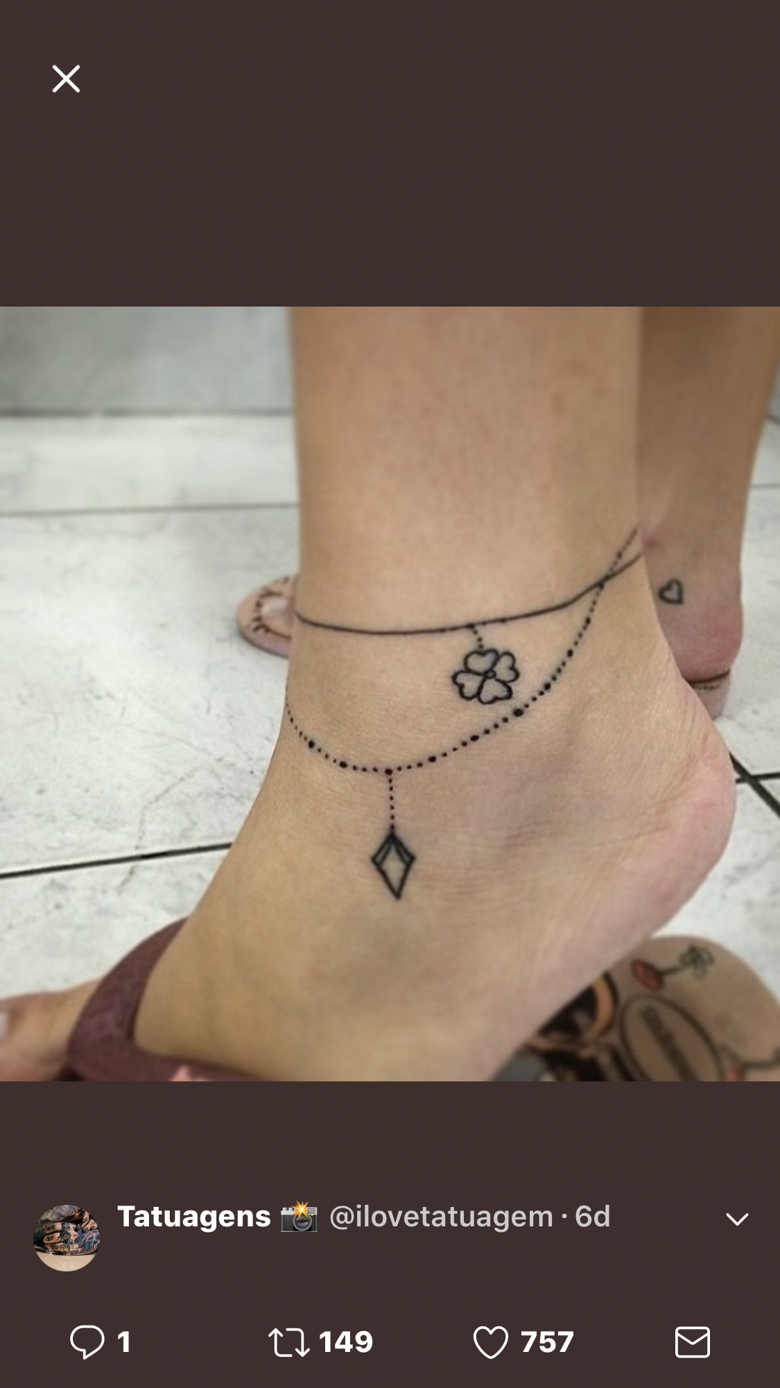 Cute Ankle Tattoo Anklet Tattoos Ankle Tattoo Designs Ankle Bracelet Tattoo