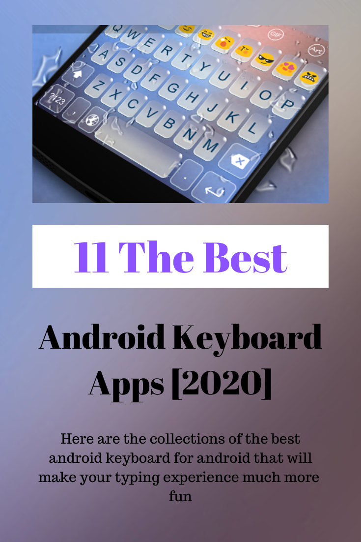 Android users mostly rely on keyboard apps that come pre