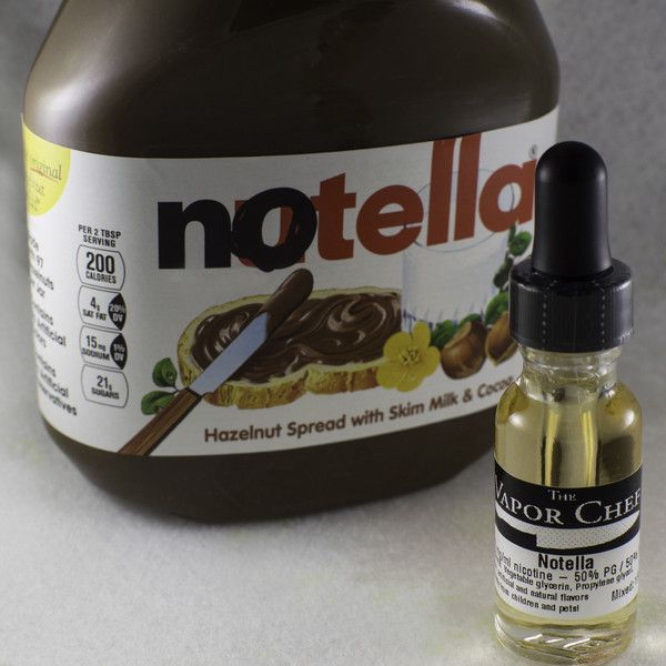 Brought to you by The Vapor Chef Notella - Chocolate, hazelnut and
