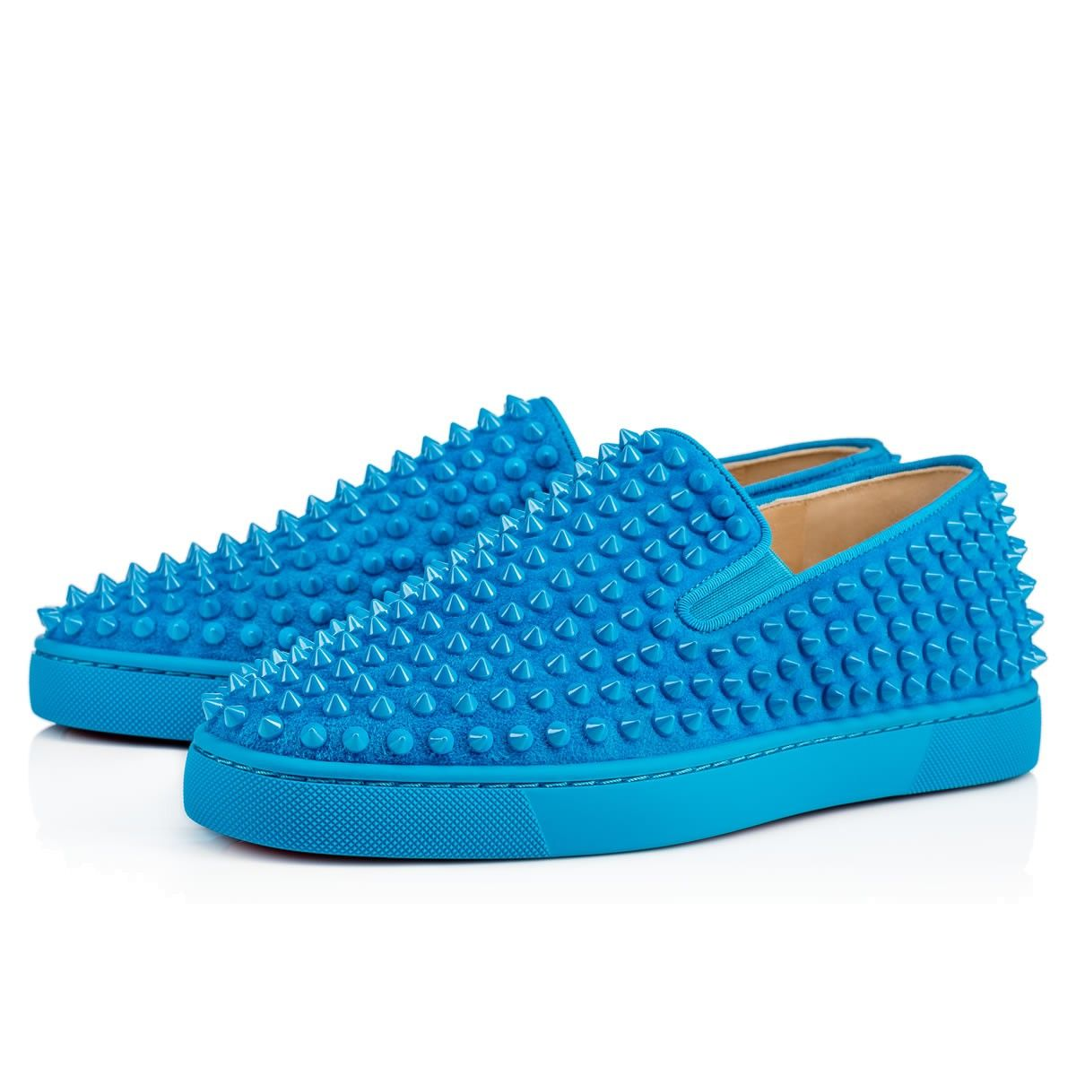 ae5a655feaf4 CHRISTIAN LOUBOUTIN Roller-Boat Men S Flat Egyptian Blue Suede - Men Shoes  - Christian Louboutin.  christianlouboutin  shoes