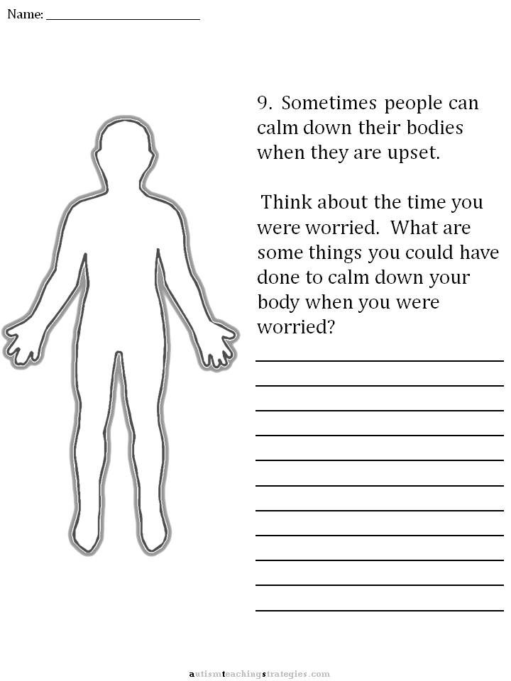 Free Social Thinking Worksheets Cbt Childrens Emotion Worksheet