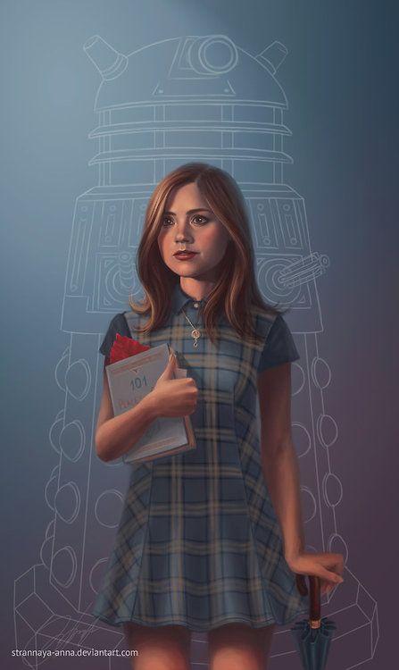 becks28nz: The Impossible Girl. Clara Oswin Oswald by strannaya-anna