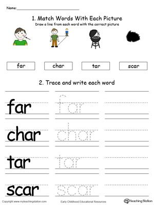 AP Word Family Connect, Trace and Write in Color | Pinterest