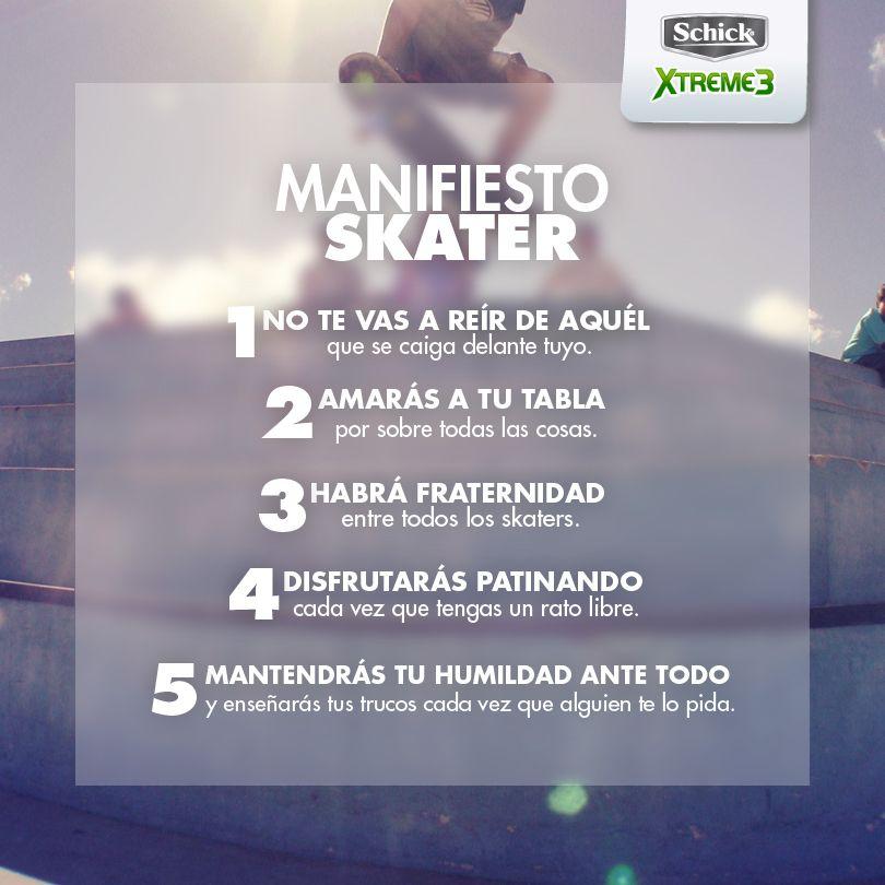 Skater Manifesto Client: Schick Argentina https://www.facebook.com/SchickArg  Copy/Idea: @Micaela P.S. Design: @Marcela Maldonado