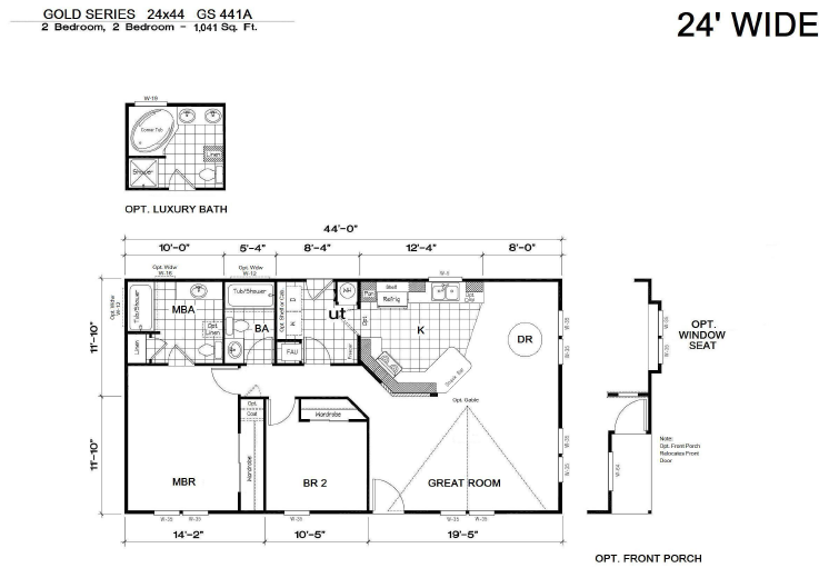 24x44 gold gs 441a the home boys your housing for 24x44 house plans