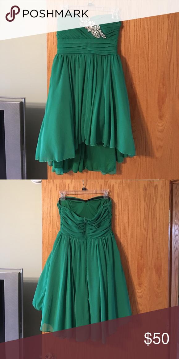 Homecoming dress Green Dresses Strapless