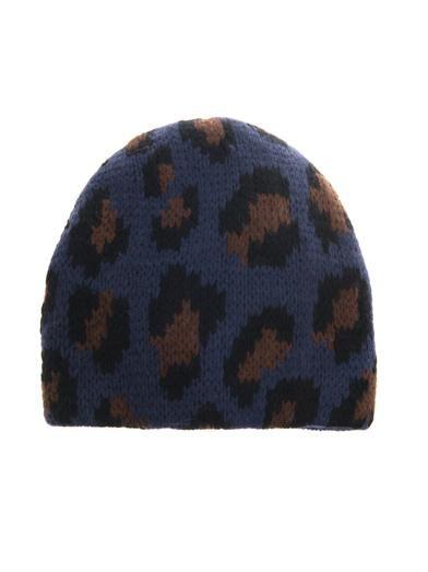 a65d1b304c9 Tak.Ori Cortina leopard knit beanie