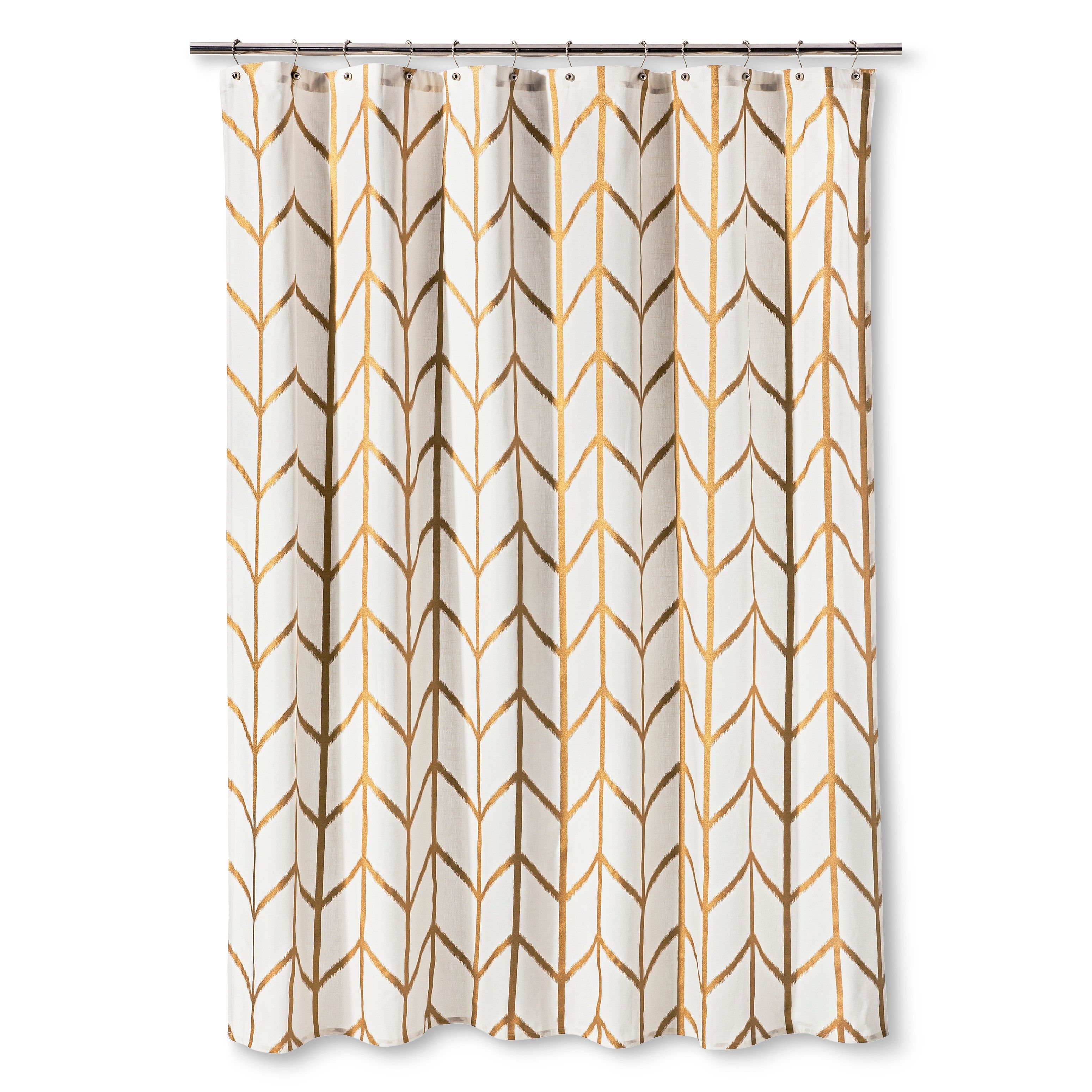 Threshold Shower Curtain Gold Ikat Modern Shower Curtains