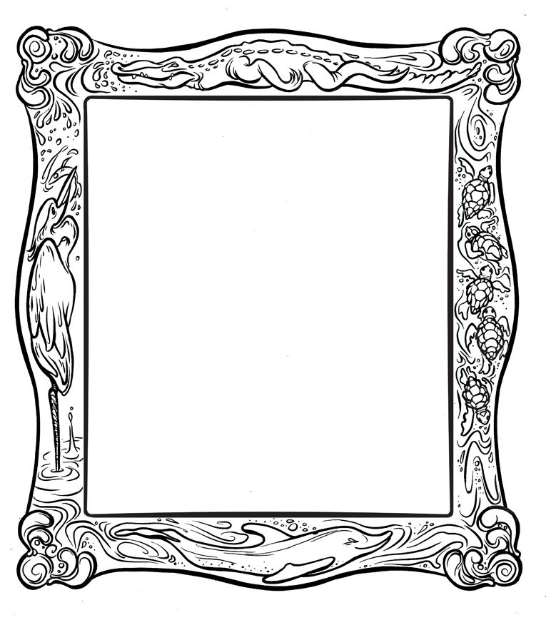 frame coloring page clipart free to use clip art resource az coloring pages