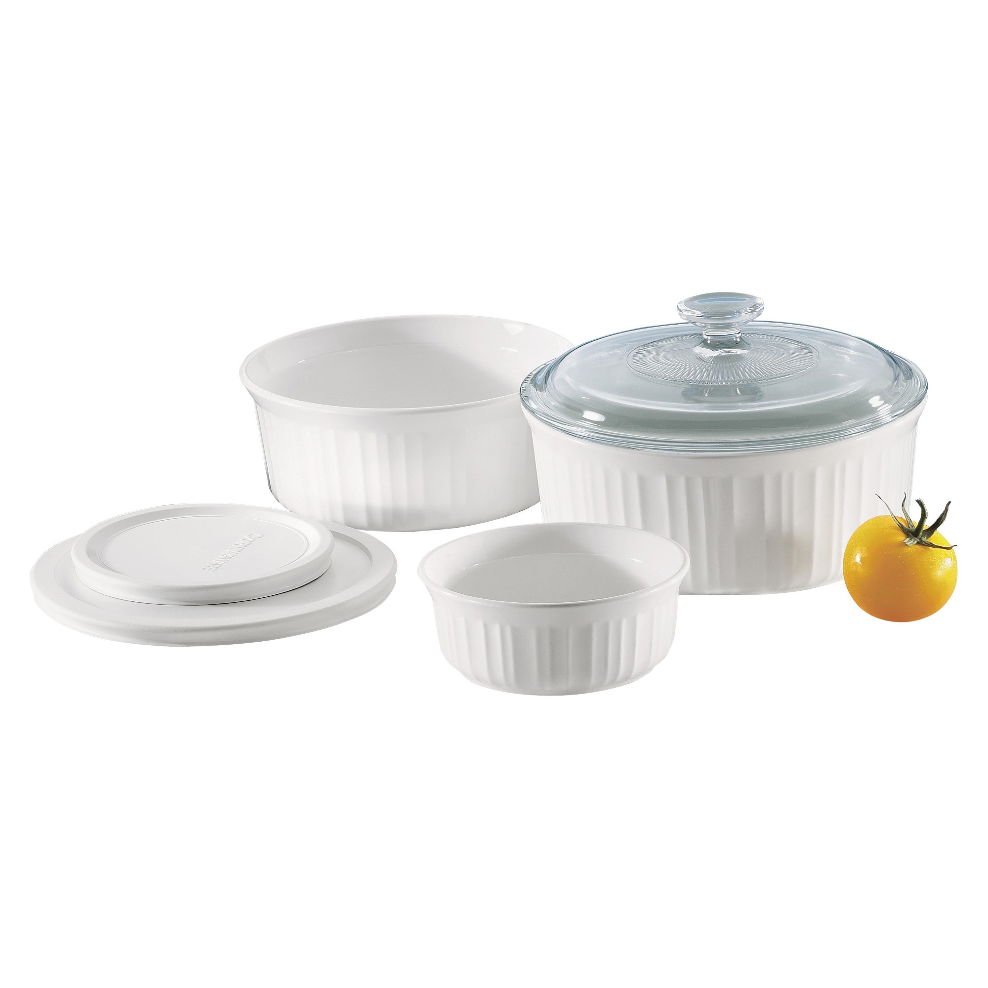 Corningware 6 Piece Bakeware Set White Ceramic Bakeware Set