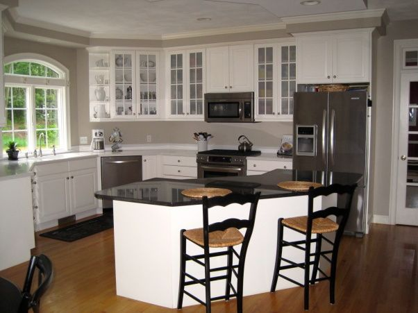 White Kitchen With Taupe Walls I Recently Repainted My