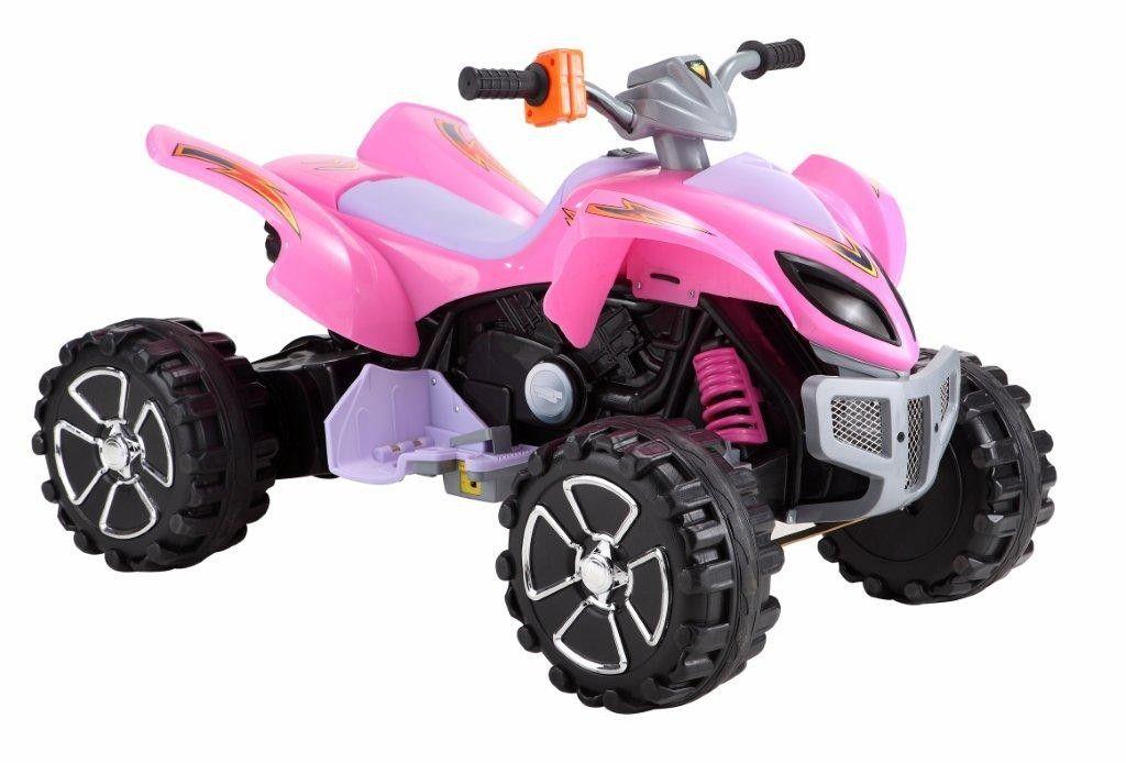 Kids Pink Chunky Wheel 12v ATV Ride On Quad Bike Quad