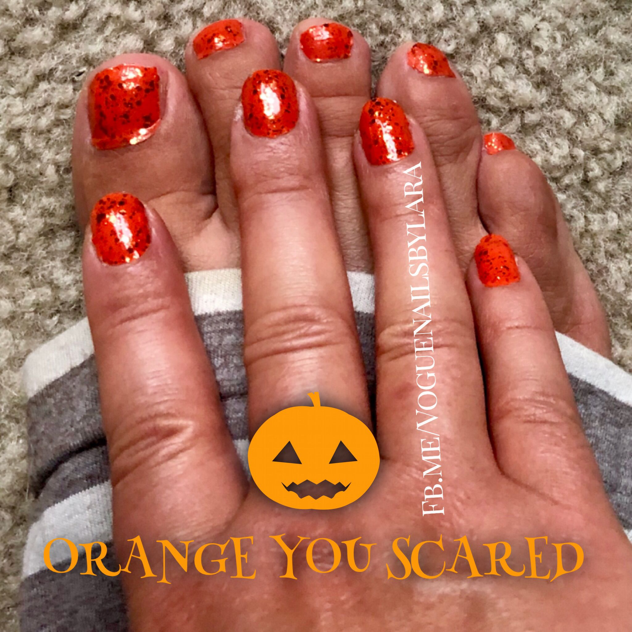 Orange you Scared? Color Street Halloween nails 2018