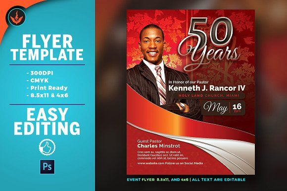 Crimson pastor anniversary flyer by seraphimchris on