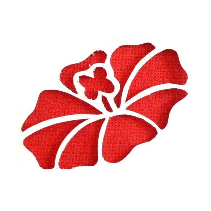 Pochoir gratuit duo d 39 hibiscus cr ations pinterest - Fleur a imprimer gratuit ...