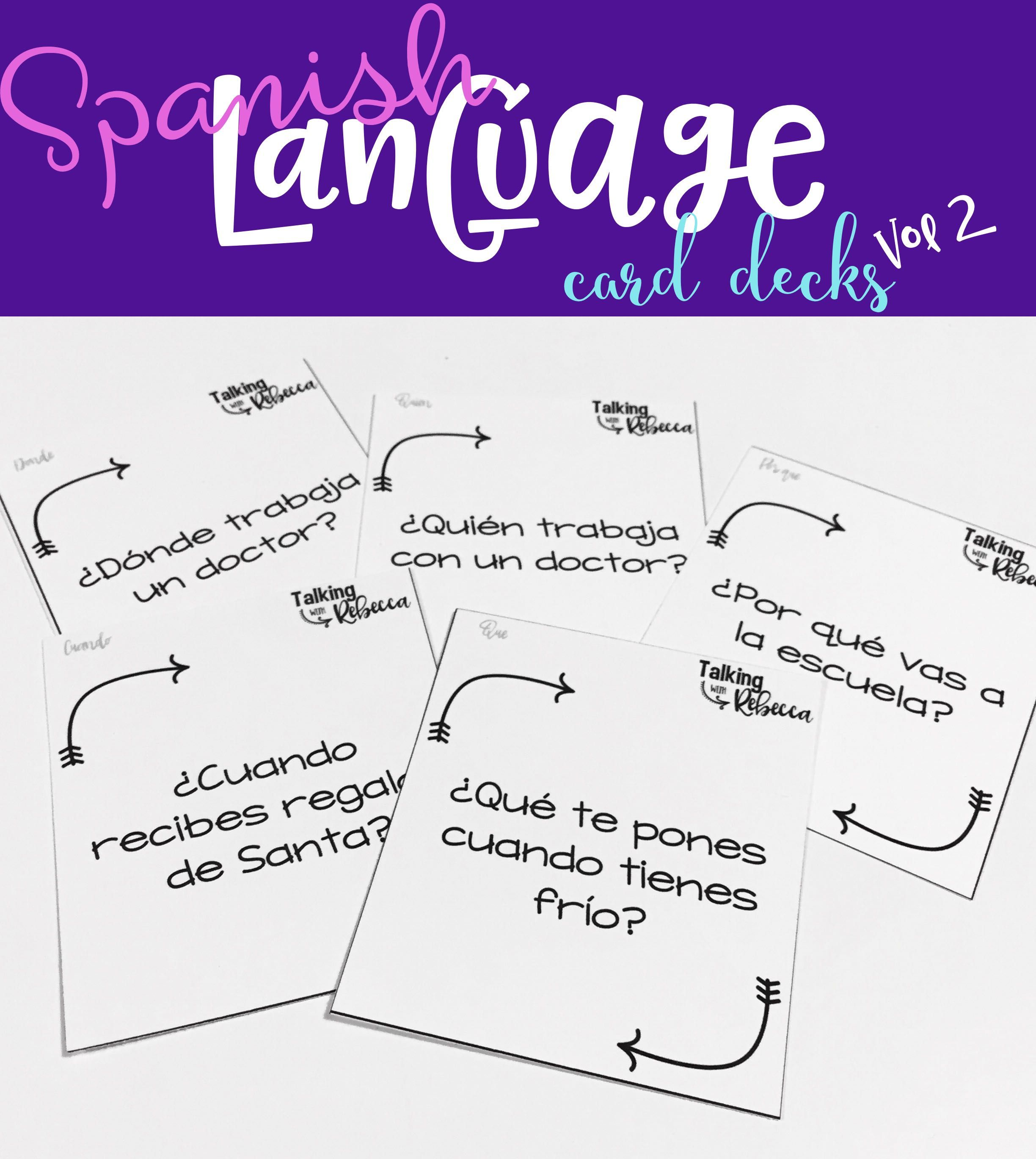 No Prep Expressive Language Spanish Speech Therapy Task