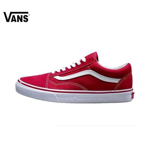 f5e1a93c50b854 VN0VOKDIC Men   Women s Skateboarding Shoes-Flat-VANS-VN-0D3HBKA-36-TouchyStyle  Original Vans Old Skool Red Colour Low-Top Men   Women s Skateboarding Shoes  ...