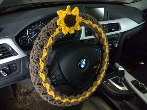 Surprising Sunflower Steering Wheel Cover Crochet Wheel Cover Andrewgaddart Wooden Chair Designs For Living Room Andrewgaddartcom