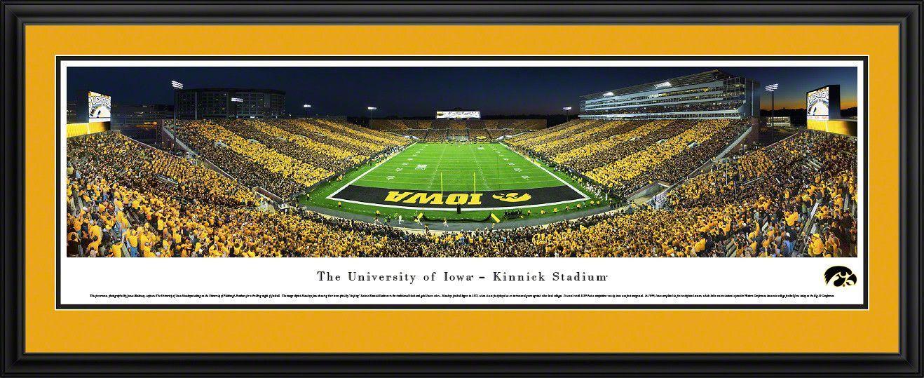 Iowa Hawkeyes Black Gold Game Framed Panoramic Print