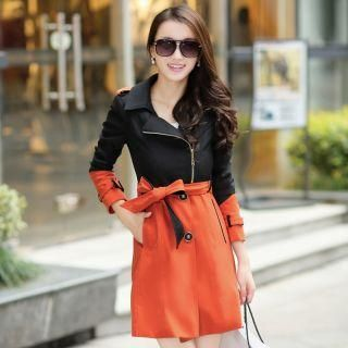 Buy 'Mooiee – Two-Tone Tie-Waist Trench Coat' at YesStyle.com plus more China items and get Free International Shipping on qualifying orders.