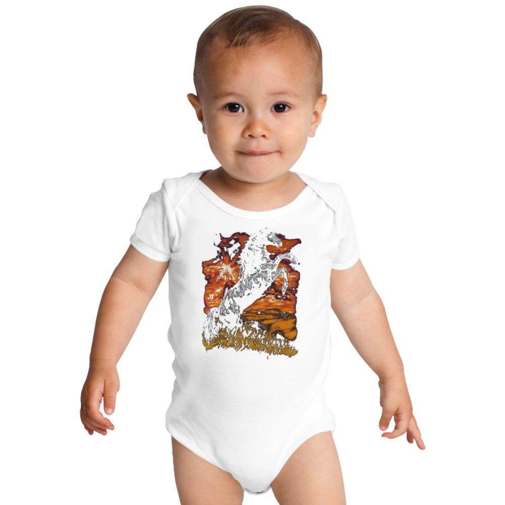 Charlie Horse Baby Onesies