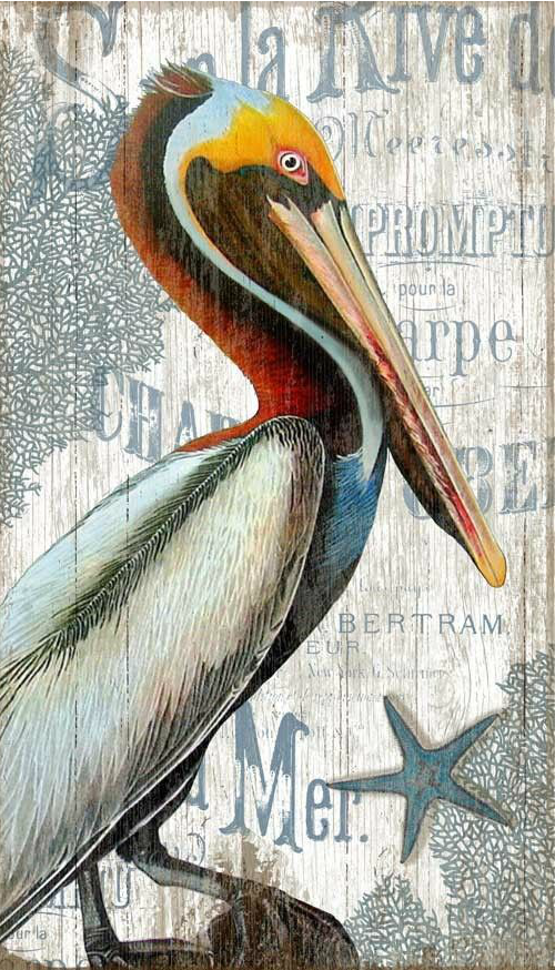 Pelican Painting On Wood From Caron S Beach House Http