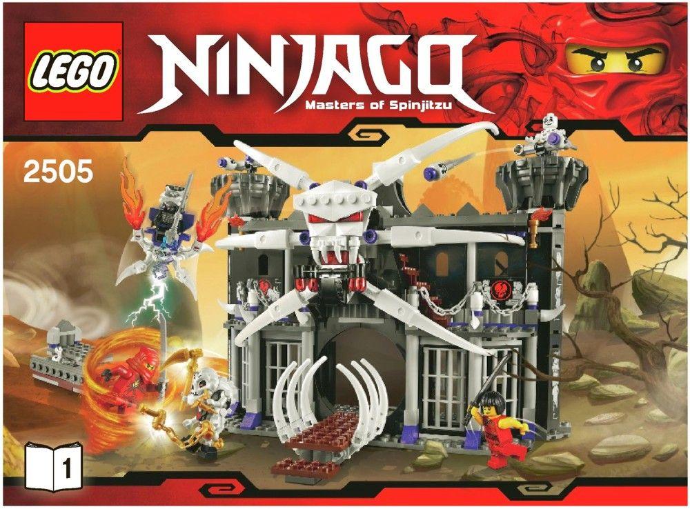 Ninjago Garmadons Dark Fortress Lego 2505 Kids Pinterest