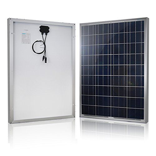 Renogy 100w Polycrystalline Solar Panel Provides High Efficiency High Reliability At Lower Price And Solar Panel Kits Solar Panels Monocrystalline Solar Panels