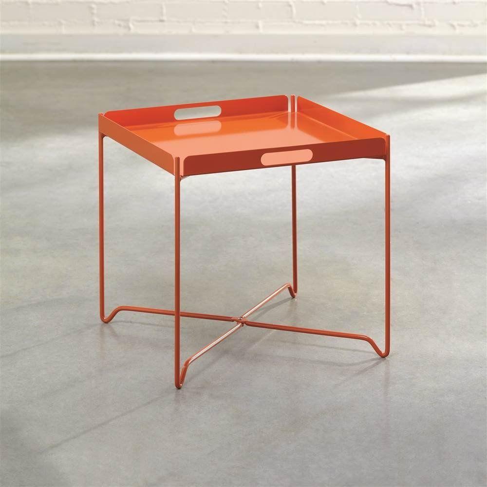 Amazon Com Sauder Soft Modern Tray Table Orange Blush Kitchen Dining [ 1000 x 1000 Pixel ]