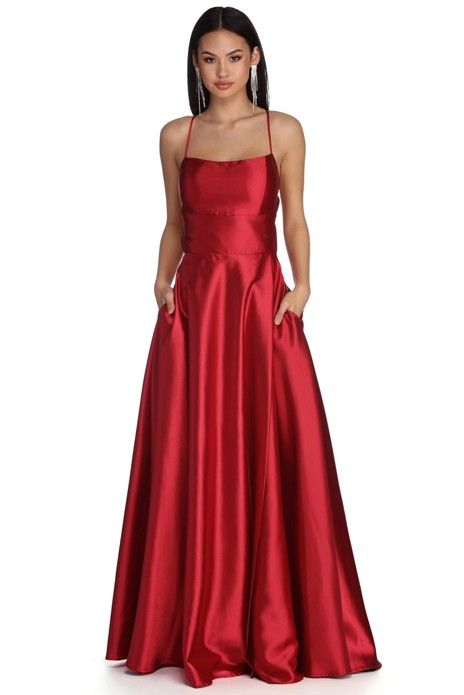 d6a45b023acf Anne Formal Lattice Satin Dress in 2019 | Products | Satin dresses ...