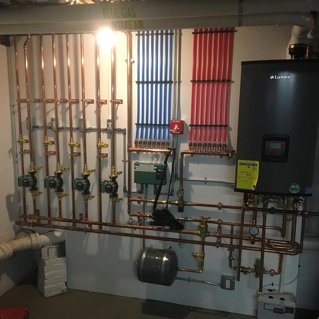 Nickportnoybuildersllclexington Project Another Gem From My Plumber Happy Weekend Jlconlineni Mechanical Room Hydronic Radiant Floor Heating House Heating