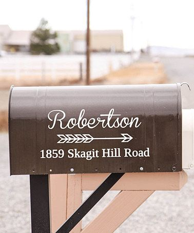 This White Personalized Mailbox Decal Is Perfect Zulilyfinds - Custom vinyl decals for wood