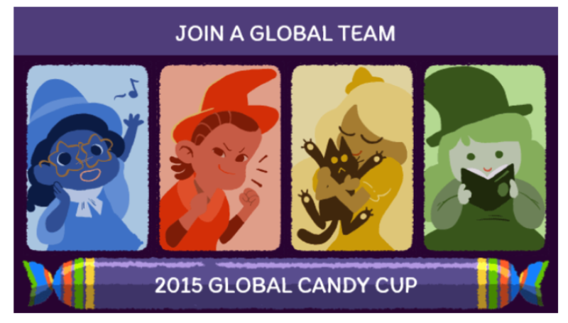 "Halloween Doodle Turns Google Logo Into ""Global Candy Cup"