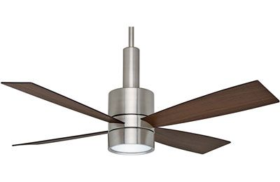Compare this ceiling fan with any ceiling fan that was perhaps in your grandmother's house - the fan didnt work right when new so its constant clicking kept you up at night...or maybe you had the fear it would fly right off the ceiling when the chain was pulled 3 times!