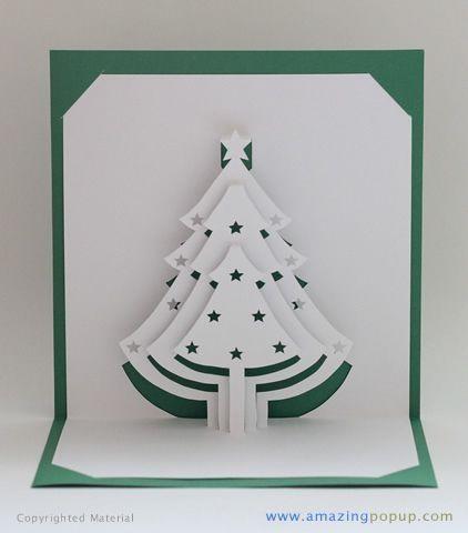 Best 25 Pop Up Card Templates Ideas On Pinterest Diy Kirigami Inside Kirigami Christmas Tree Template Christmas Greeting Cards Pop Up Christmas Cards C