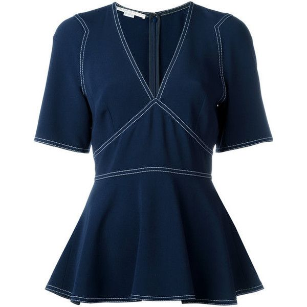 Free Shipping 2018 Newest peplum blouse - Blue Stella McCartney Outlet Cheapest Price Buy Cheap Official Site Really Online Quality Outlet Store 1SE3cT2