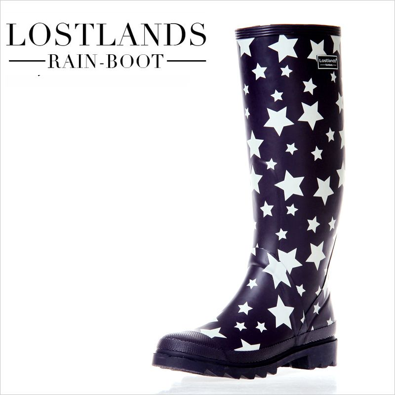 Star Print Rainboots High Quality Rubber Rain Boots Female Water