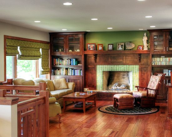Pin On Fireplaces Mission style living room decorating