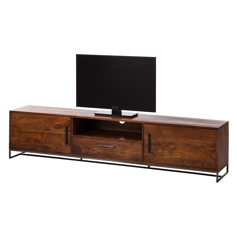 Fabulous TV Lowboard Woodson IV Akazie massiv Eisen Akazie Braun ars manufacti