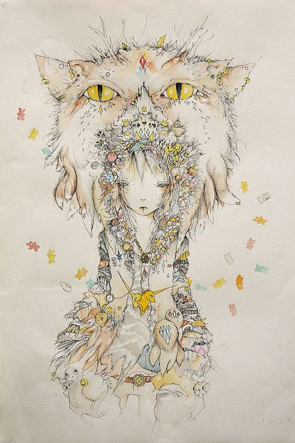 Shapeshifter Character Design : Shapeshifter illustrations cat and drawings