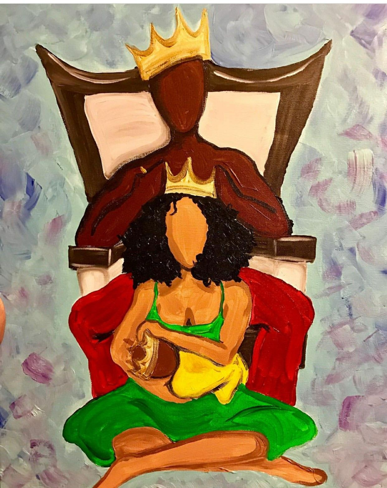 Image result for afro painting kings and queens
