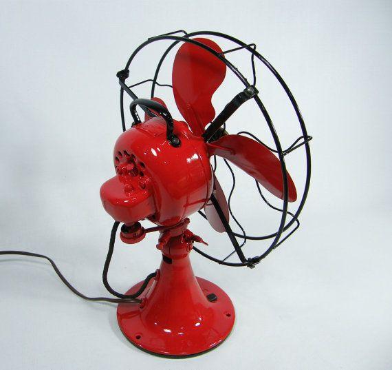 Vintage Electric Fan Red Amp Black 1920s Fans Fan