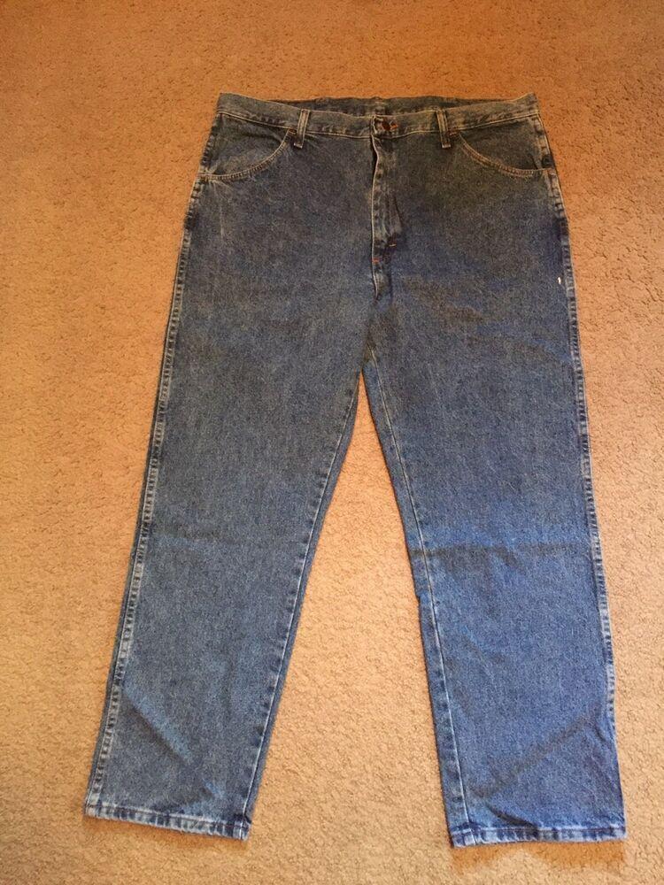 00d7530a NEW RUSTLER Jeans Men's Regular Fit Straight leg Blue 40x30 Heavyweight  denim #Rustler #Classic