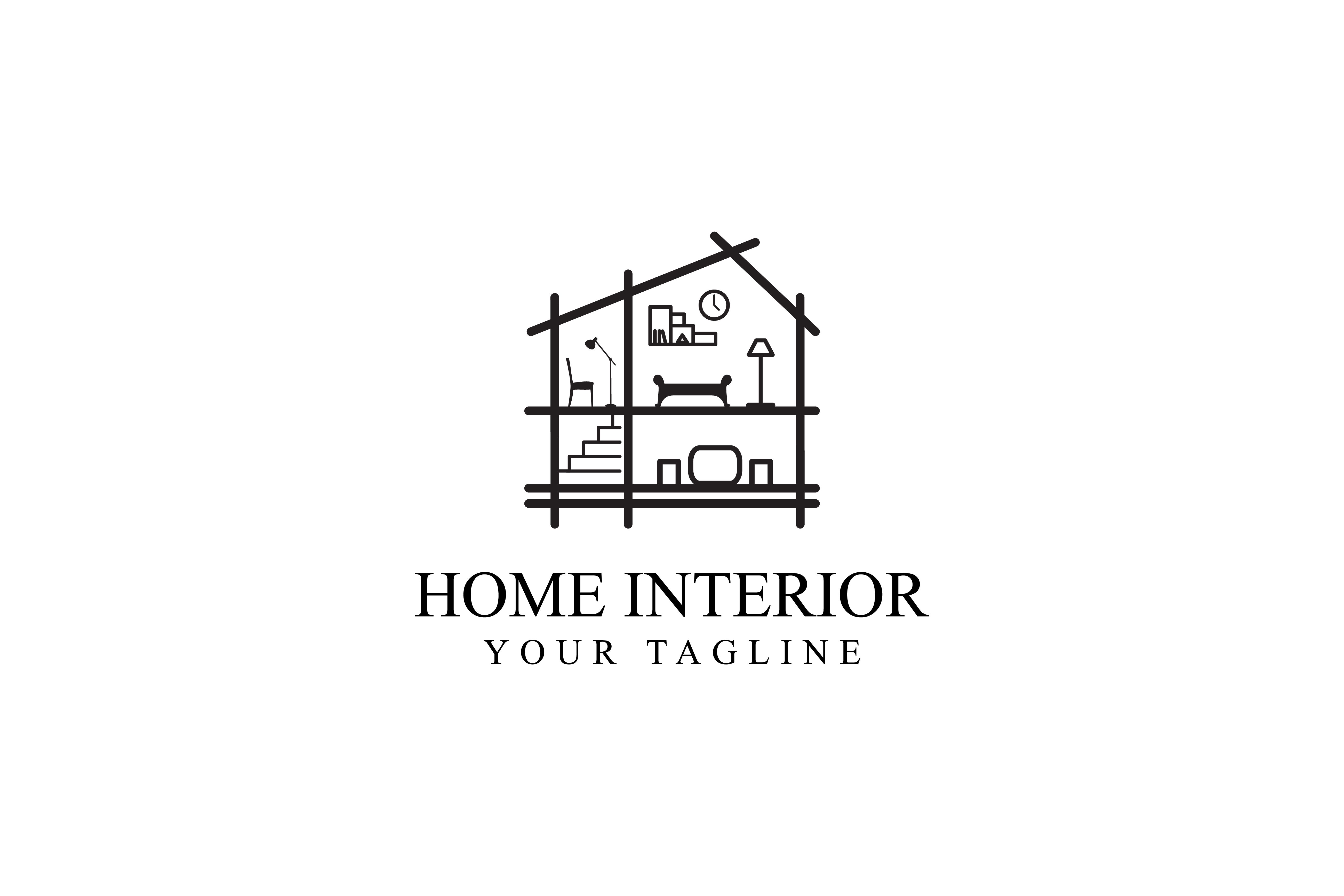 Home Interior Logo Design (Graphic) by sabavector ...
